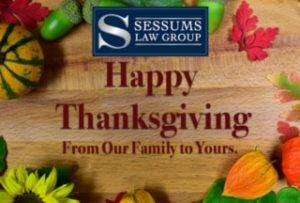 Happy Thanksgiving from Sessums Law Group!